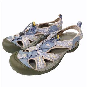 KEEN Venice H2 1014208 Sandals Blue/Yellow US11